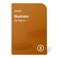 Adobe Illustrator for teams PC/MAC ENG, 1 година