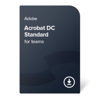 Adobe Acrobat Standard DC for teams PC Multi-Language, 1 year