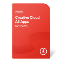 Adobe CC All Apps for teams PC/MAC ENG, 1 leto