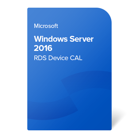 Microsoft Windows Server 2016 RDS Device CAL, 6VC-03222 elektronický certifikát