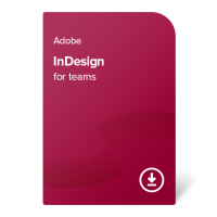Adobe InDesign for teams PC/MAC ENG, 1 rok