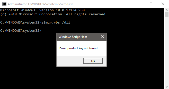 Windows dli display license status cmd