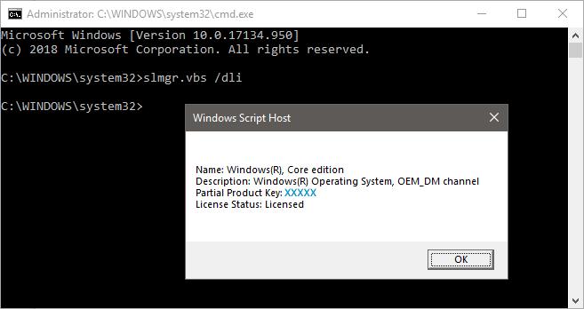Windows dli display license status cmd